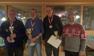 BZM IW Sieger Senioren: 2. Manfred Meil, 1. Josef Kablasz, 3. Jochen Knabl,