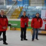 TLEV Vizepräsident Rudi Mühlegger, Schiri Sepp Fuchs, und WBL Helmut Daum